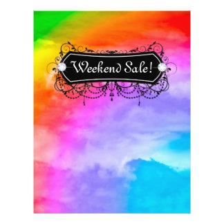 SALE Flyer Fashion Jewelry Salon Makeup Rainbow