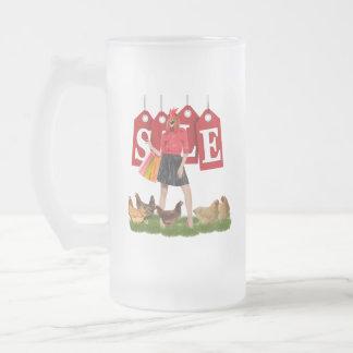 Sale Frosted Glass Beer Mug