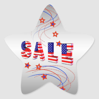 Sale In Flag Design Star Stickers