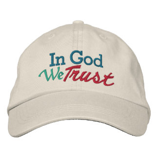 SALE - IN GOD We Trust - Wear it with Pride Embroidered Baseball Caps