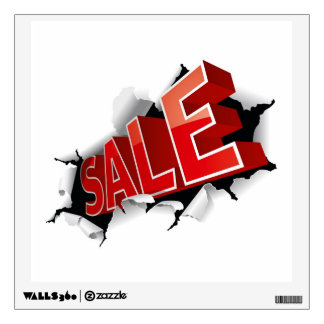 Sale inscription for Promo Wall Decal