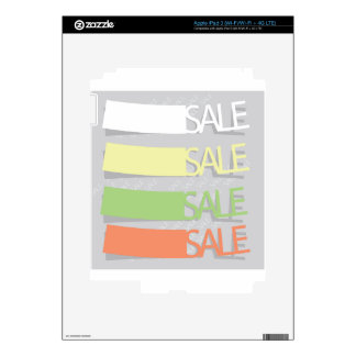 Sale Labels Skin For iPad 3
