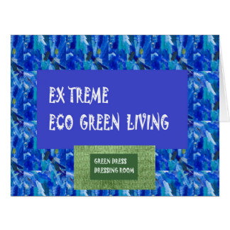 SALE Large Greetings Green Extreme Eco Living gift Card