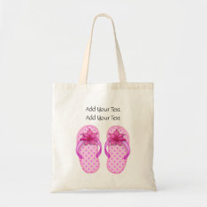 Sale - Little Pink Flip Flops Tote By Srf at Zazzle