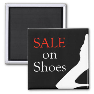 Sale on shoes with silhouette of a shoe magnet
