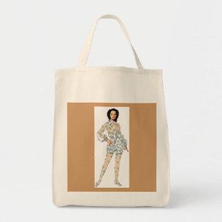 SALE - Oscar de la Renta Tote 1968 Canvas Bag