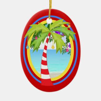 SALE! Paradise Christmas Tree Double-Sided Oval Ceramic Christmas Ornament