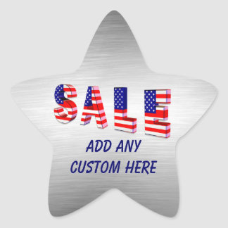 Sale Patriotic Holiday Star Stickers
