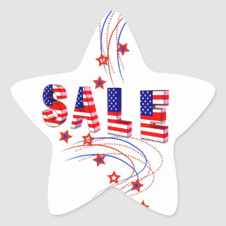 Sale Patriotic Star Stickers