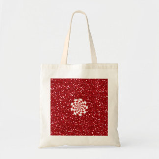 SALE - Peppermint Candy Red Glitter Christmas Tote