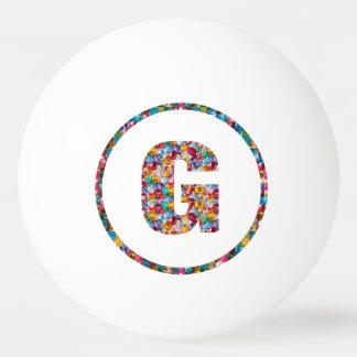 SALE PRICE ALPHABET ART GGG G GG 3* Ping Pong Ball