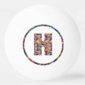 SALE PRICE ALPHABET ART HHH H HH 3* Ping Pong Ball