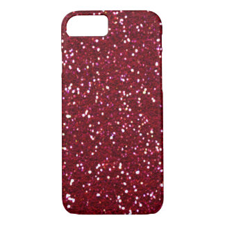 SALE - RED HOT RED Glitter iPhone 7 case