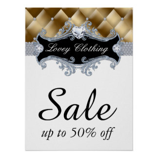 Sale Retail Fashion Jewelry Poster tufted satin