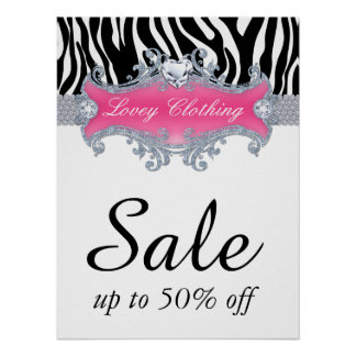 Sale Retail Fashion Jewelry Poster zebra animal