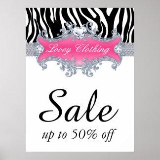Sale Retail Fashion Jewelry Poster zebra animal