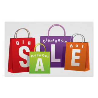 SALE SHOPPING BAGS RETAIL POSTER