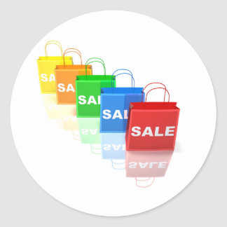 Sale Shopping Bags Stickers