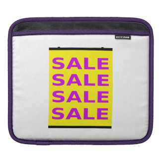 Sale Sign Sleeve For iPads