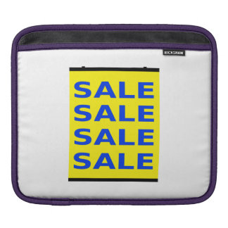 Sale Sign iPad Sleeve