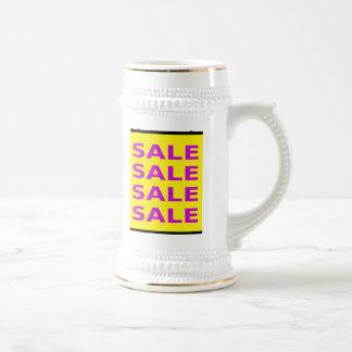 Sale Sign 18 Oz Beer Stein