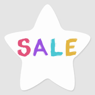 Sale Star Sticker