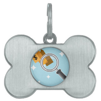 Sale Tags under magnifying glass vector Pet ID Tag