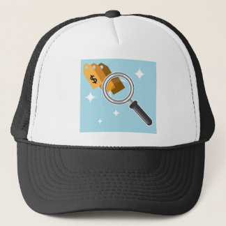 Sale Tags under magnifying glass vector Trucker Hat