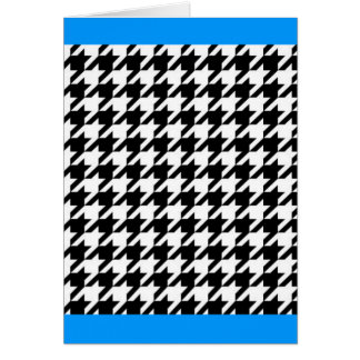 SALE - The CLASSIC HOUNDSTOOTH Card (Blue border)