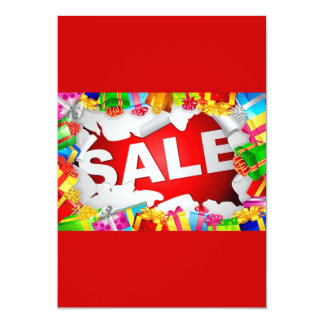 -Sale-Vector-Illustration BRIGHT RED COLORFUL GIFT Card