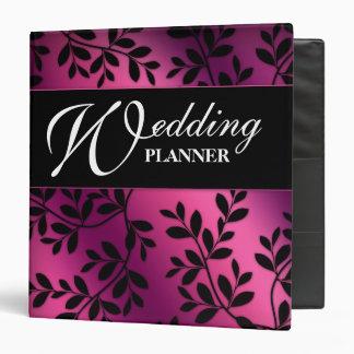 SALE! Wedding Leaves Pink Purple Black Album Binder