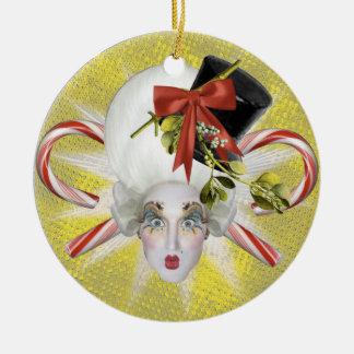 SALE! Yellow Snowman Poppycock Ornament
