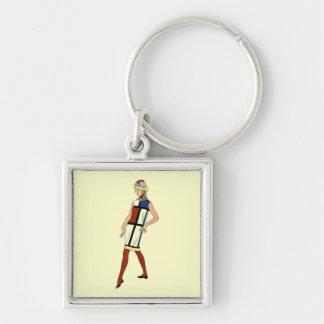 SALEKey Chain / Fashionista 1960 Colorblock Dress Keychain