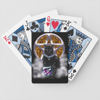 salem cat (color) bicycle playing cards