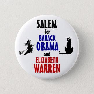 Salem for Obama and Warren 2012 Pinback Button
