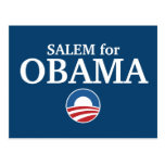SALEM for Obama custom your city personalized Post Cards