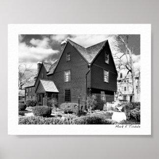 Salem histórica - casa de siete aguilones - mini posters