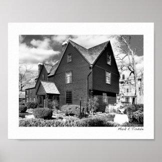 Salem histórica - casa de siete aguilones - pequeñ poster