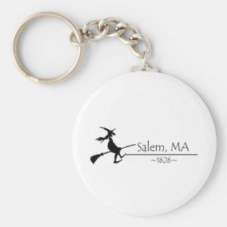Salem, MA 1626 Basic Round Button Keychain