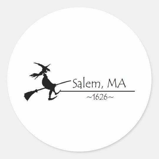 Salem, MA 1626 Classic Round Sticker