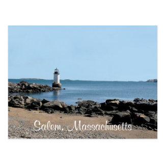 Salem MA Bay  Fort Pickering Lighthouse Post Card