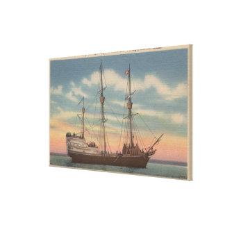 Salem, mA - opinión Arbella de capitán Winthrop Impresión De Lienzo