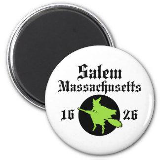 Salem Massachusetts 2 Inch Round Magnet