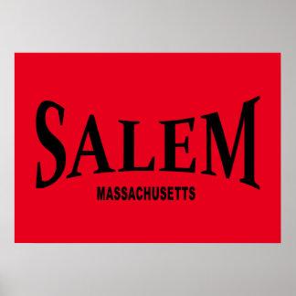 Salem Massachusetts - black Poster