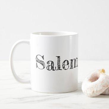 Halloween Themed Salem Massachusetts, Cute Witch coffee mug
