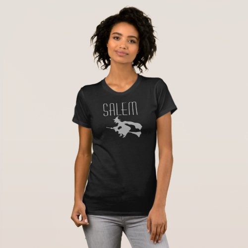 Salem Massachusetts Grey Witch T shirt for women