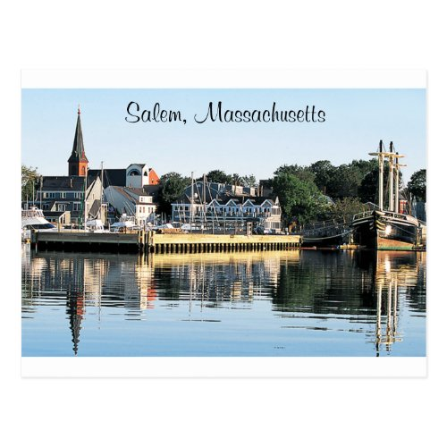 Salem Massachusetts Marina  Post Card