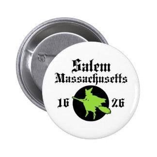 Salem Massachusetts Pin Redondo De 2 Pulgadas