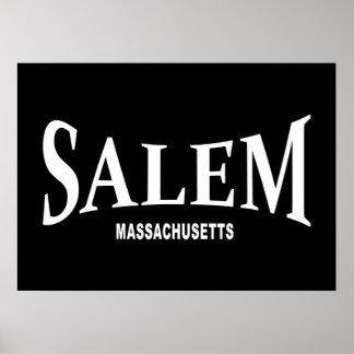 Salem Massachusetts - white Poster
