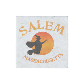 Salem Massachusetts Witch Stone Magnet
